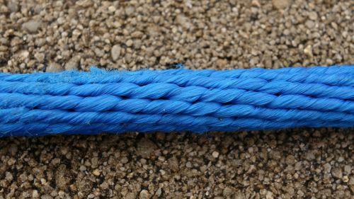 rope plastic blue