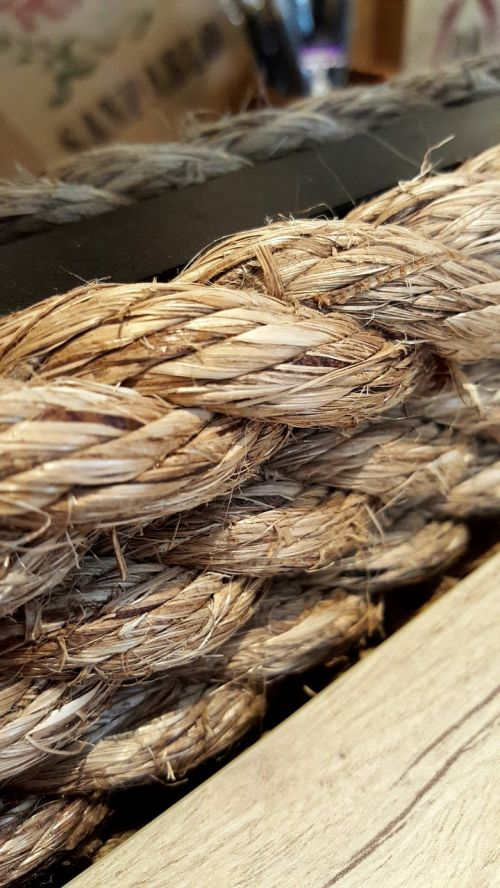 rope wooden natural