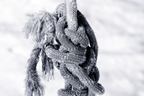 rope rotated knitting