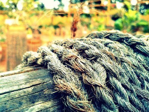 rope wood old
