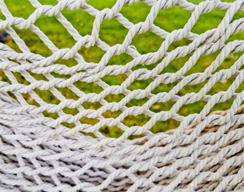 lynai, balta, modelis, megzti, hamakas, drapuoti, kreivė, lynų tinklas