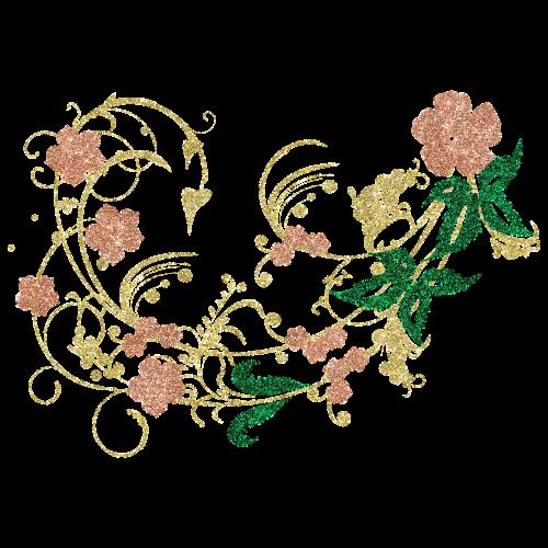 gold silvery flower