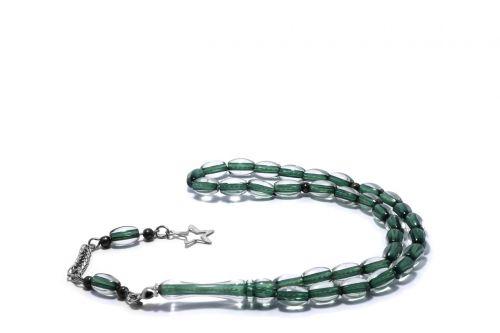 rosary green rosary star