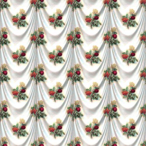 rose satin drapery