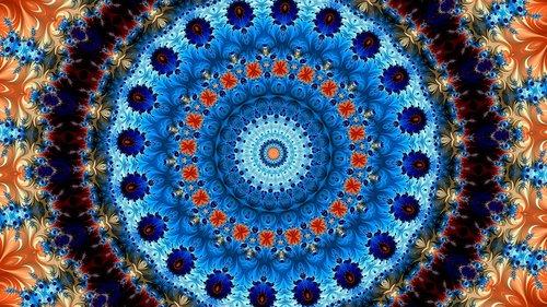 rose  kaleidoscope art  pattern