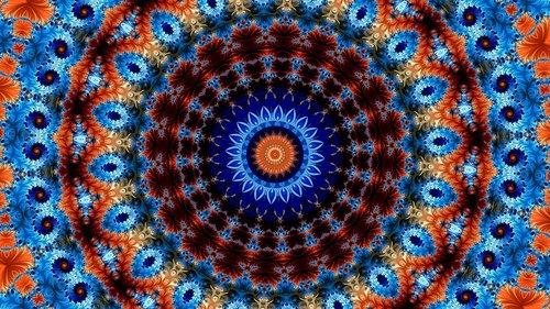 rose  kaleidoscope art  ornament