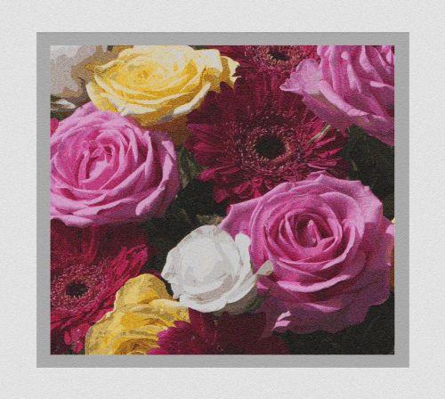 Rose Flowers Art Card
