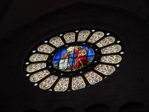 rose window window stained glass