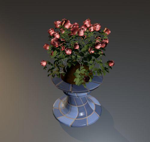 rožės, gėlė, raudona, augalas, puodą, krūmas, krūmas, fonas, rožių krūmas, rožių krūmas