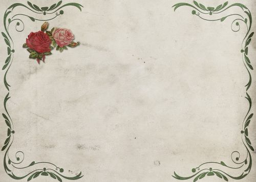 roses frame background image