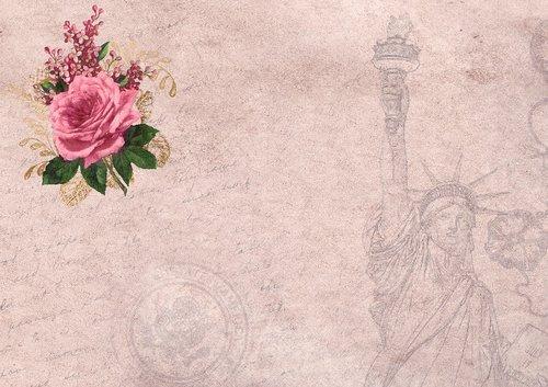 roses  background image  vintage