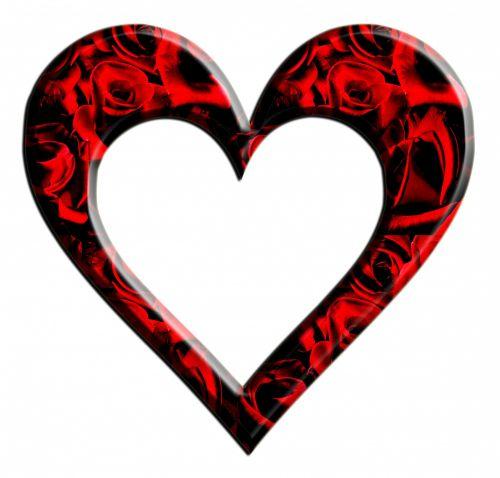 Roses Heart Frame Clipart