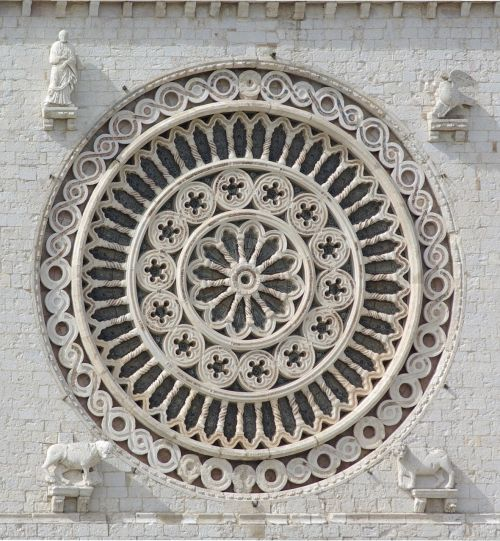 rosette rose window basilica of san francesco