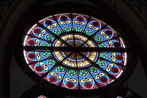 rosette church window stained glass