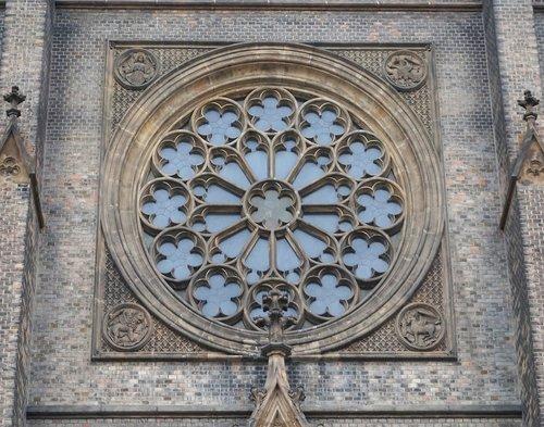 rosette window  prague  czechia