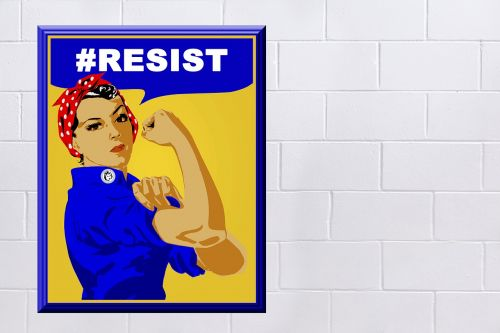 rosie the riveter poster sign