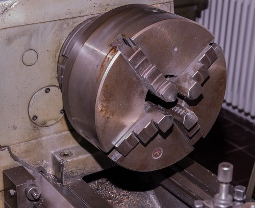 rotary head  lathe  metal