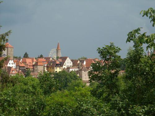 rothenburg tauber city view