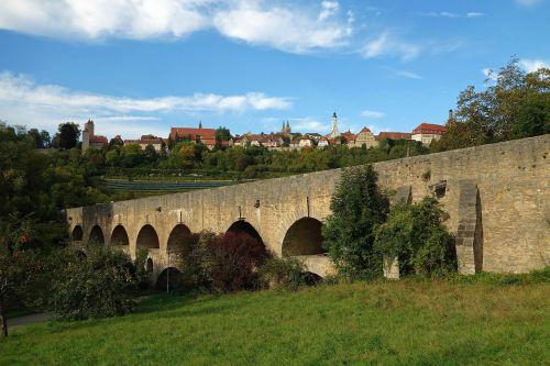 rothenburg ob der tauber germany bridge
