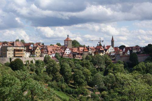 rothenburg ob der tauber landscape city
