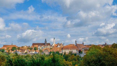 rothenburg ob der tauber  city  germany