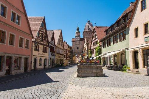 rothenburg ob der tauber  city  architecture