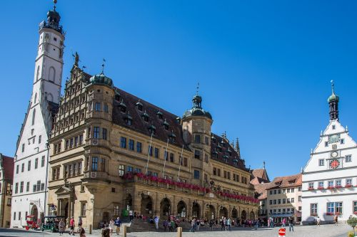 rothenburg of the deaf town hall marketplace