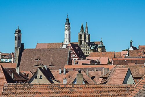 rothenburg of the deaf roofs church steeples