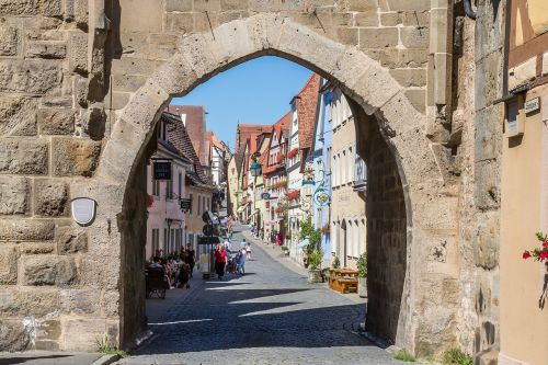 rothenburg of the deaf sieberstor middle ages
