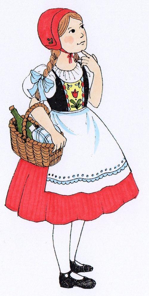 rotkäppchen fairy tales girl