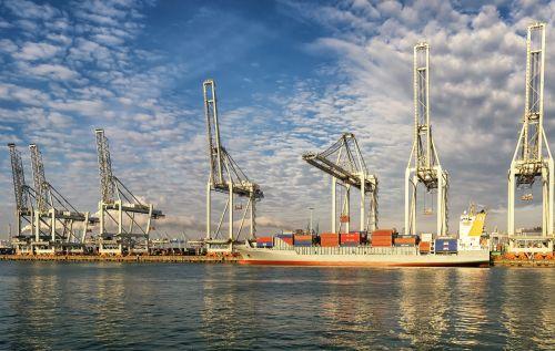 rotterdam port crane