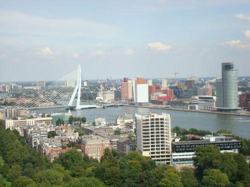 rotterdam erasmus bridge stadt