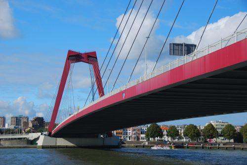 rotterdam bridge water