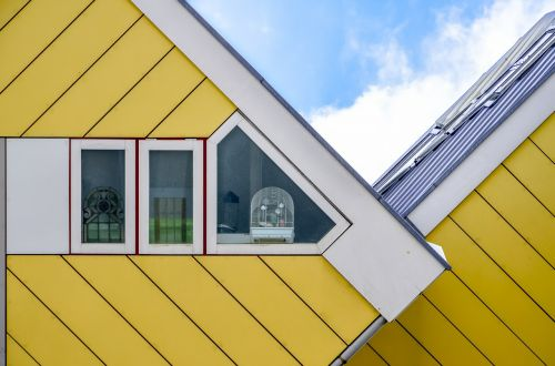 rotterdam cubic houses yellow