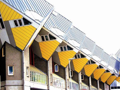 rotterdam cube houses on stilts holland