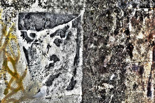 menas, fonas, miesto, grafiti, akmuo, siena, veidas, abstraktus, grubus veidas