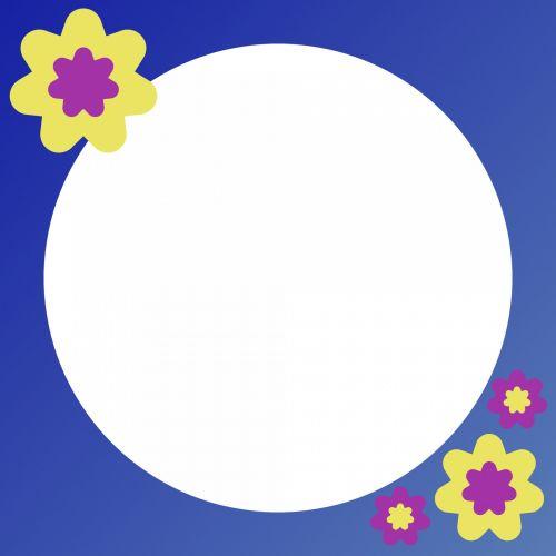 Round Flowery Frame