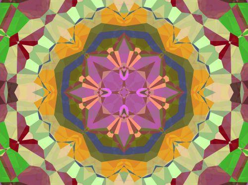 Round Kaleidoscope Pattern