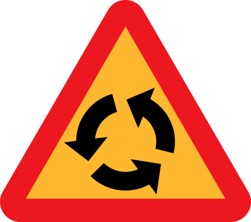 roundabout transportation roadsigns
