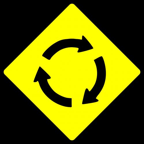 roundabout circle traffic