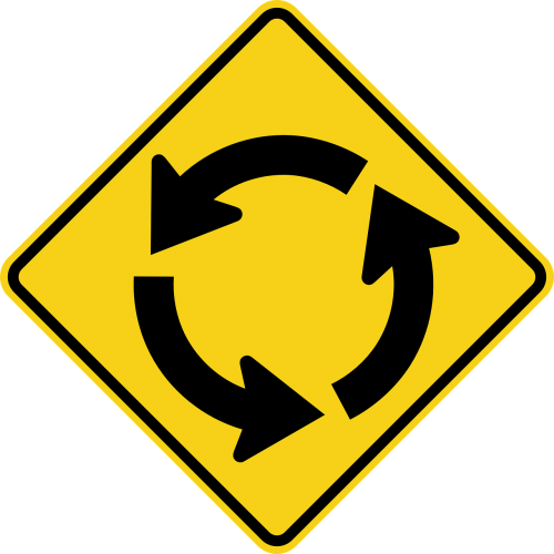 roundabout ahead circular