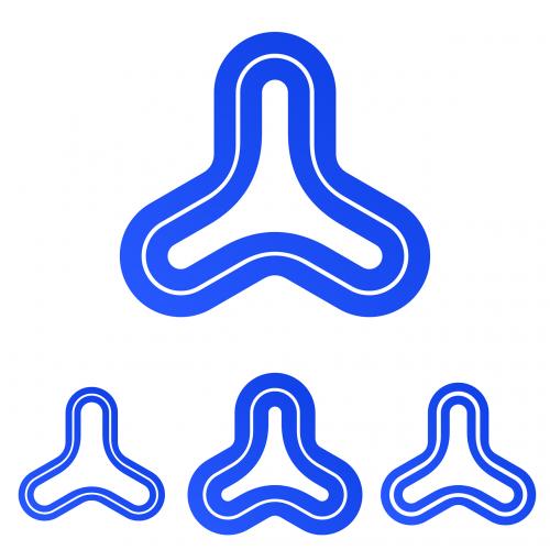 rounded triangle triangle logo