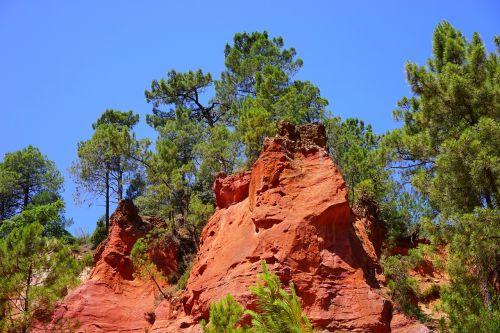 roussillon ocher rocks rock
