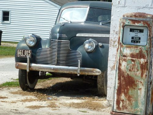 route 66 antique car vintage