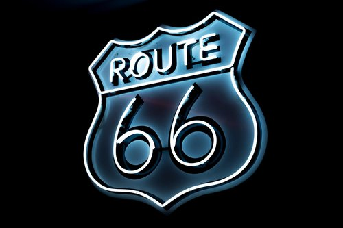 route 66  transport  neon light