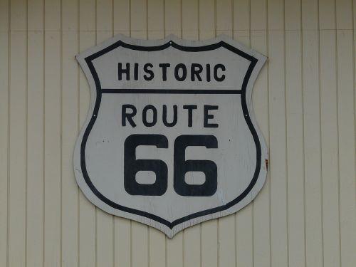 route 66 shield plaque