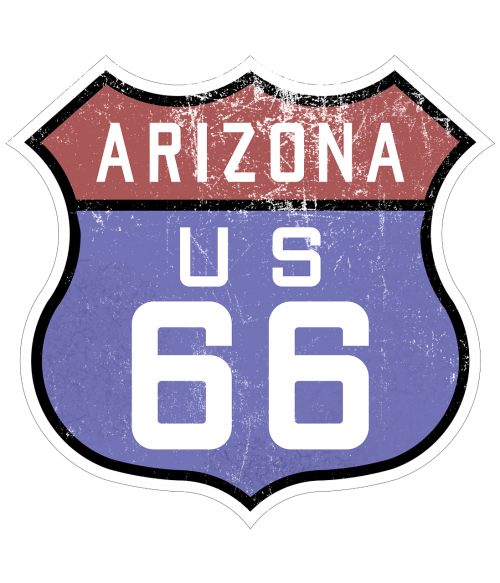 route 66 sign highway