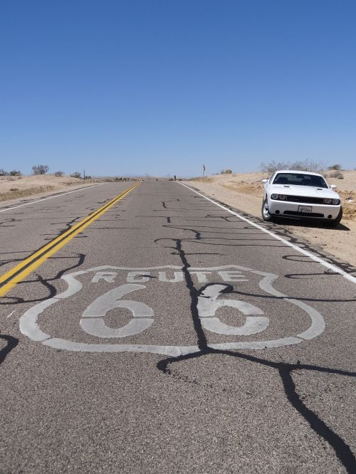 route 66 car road
