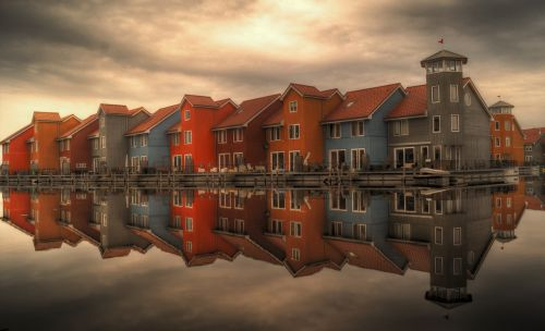 row houses serial houses houses