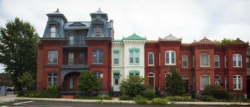 eiliniai namai,Vašingtonas,miestas,miestai,miesto,architektūra,istorinis,senas,panorama